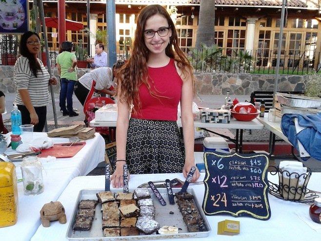 Marifer's brownie offerings.