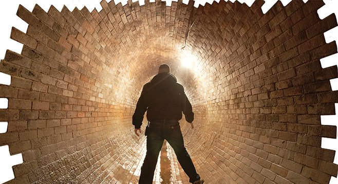 Stay awake! You never know what's going to come down the sewer pipe.