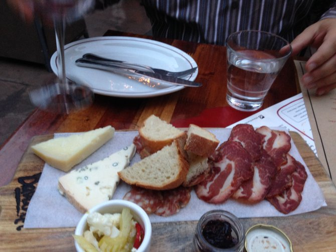 Formaggi and salumi at Davanti Enoteca.