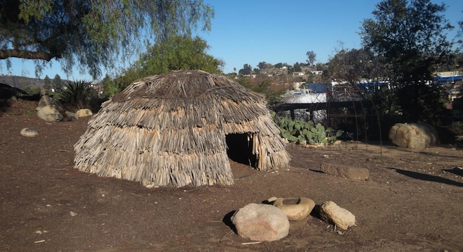 Replica of a traditional ewaa dwelling at Poway's Kumeyaay Interpretive Center.