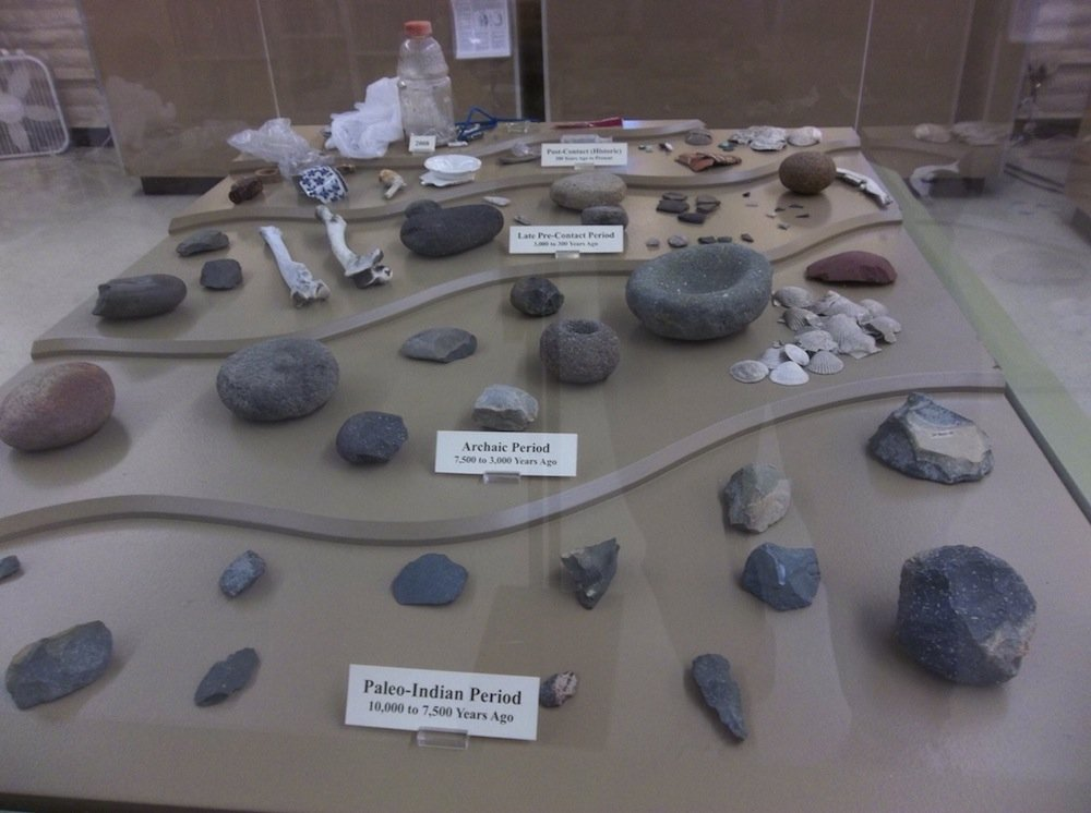 Native American artifacts at the San Diego Archaeology Center.