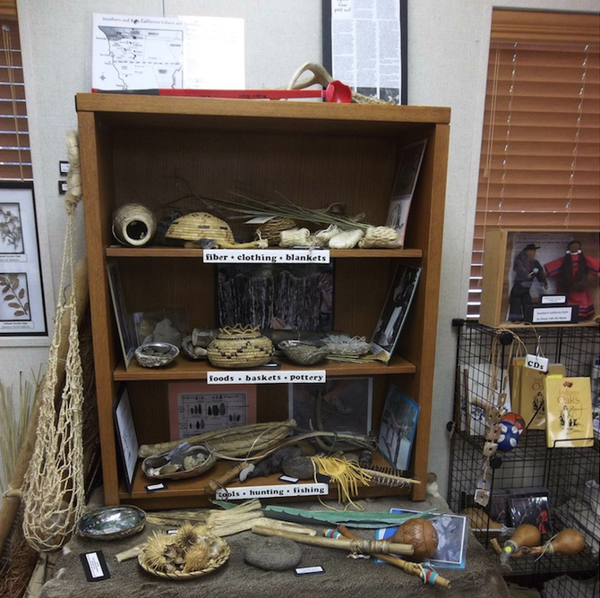 Artifacts at the Kumeyaay Interpretive Center.