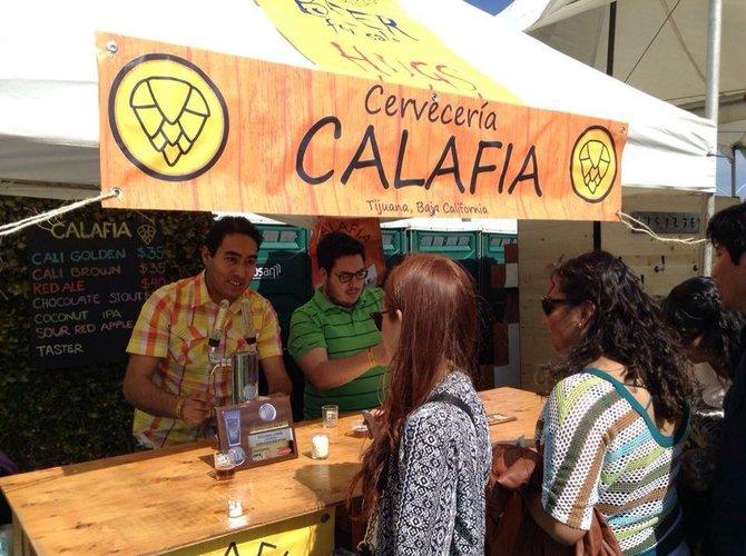 Cervecería Calafia tasting