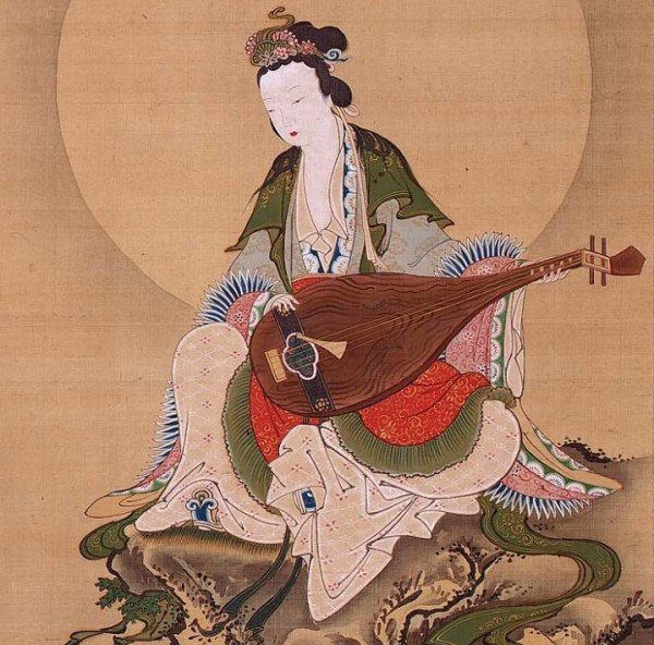 Benzaiten, the goddess of music and good fortune.