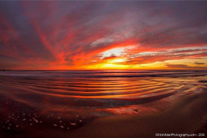 Beach sunset by Matt Aden Photography.