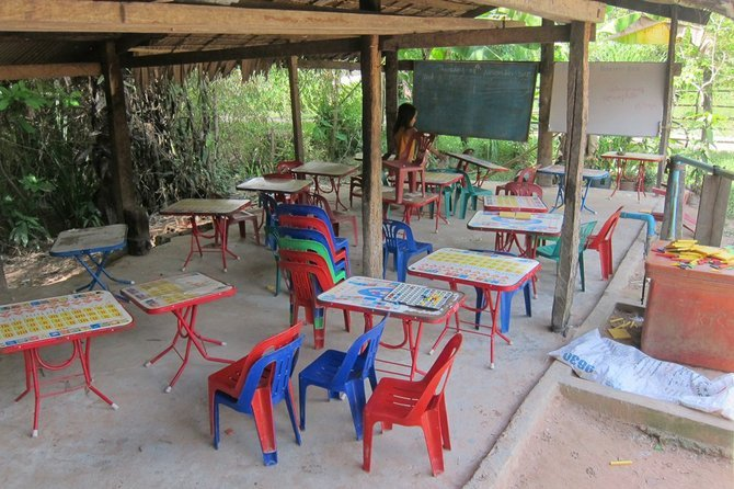 Jungle school before the author arrived...