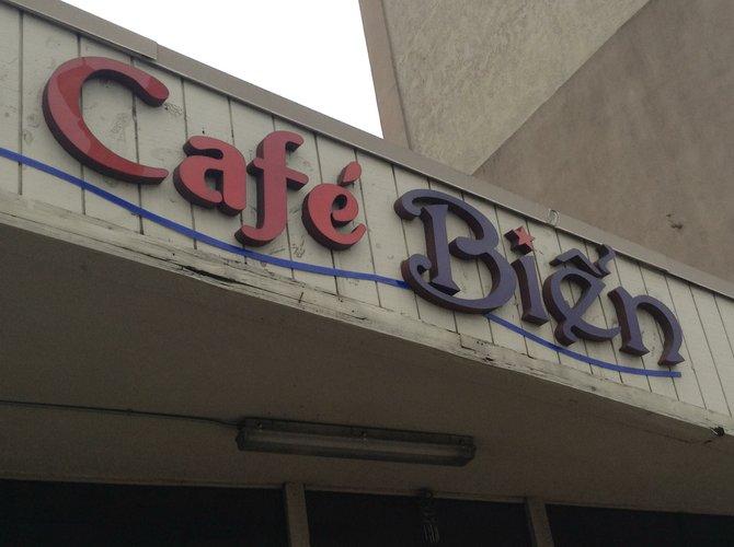 The sign on El Cajon Boulevard