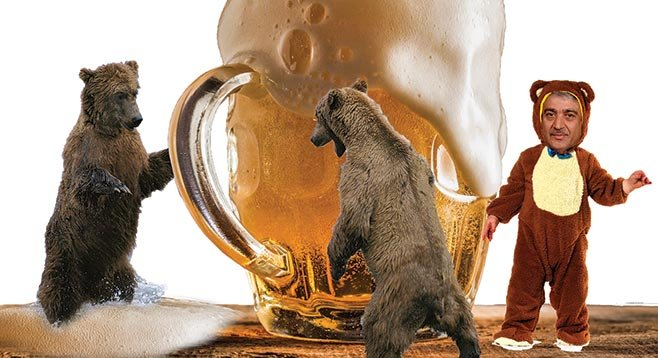 "Fighting booze with booze, UCSD chancellor Pradeep Khosla considers a ""bear [sic] garden."""