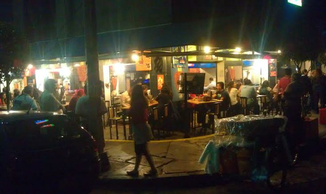 El Tizoncito, the home of the taco al pastor taco since 1966 - located on a corner in the trendy Condesa neighborhood.