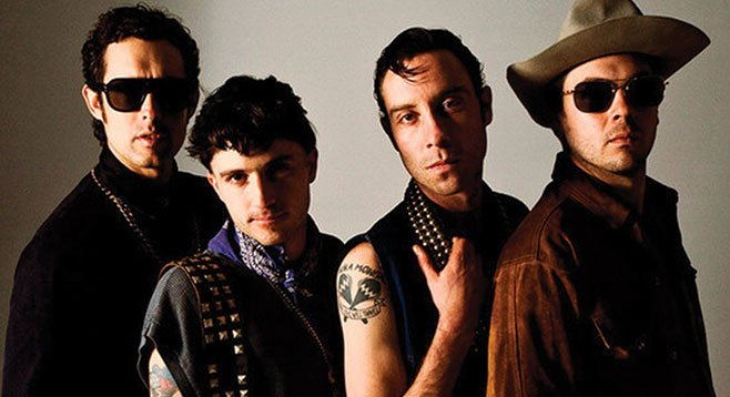 Flower-punk Atlanta band the Black Lips will leave their dark kiss on the Belly Up stage Saturday night.