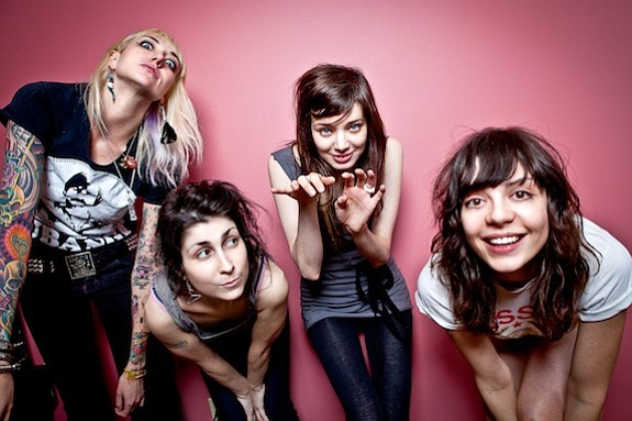 Saucy rockers the Coathangers split a bill with the Black Lips at Belly up on Saturday.