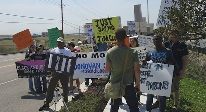 Donovan Prison rally - Image by Aaron Leaf, courtesy of United Against Police Terror