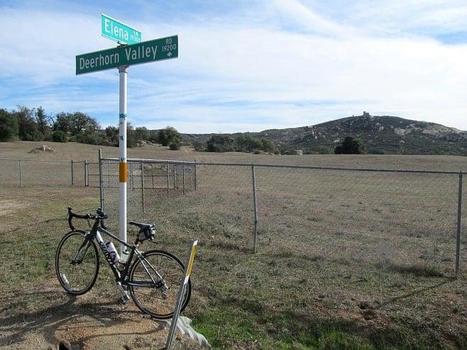 "Deerhorn Valley Road, post-climb. ""Secret"" castle in the background."