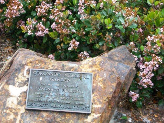 Memorial plaque near Coronado Library.