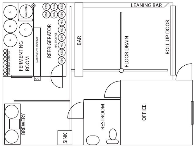 Nano brewery floor plan thefloors co for Brewery floor plan