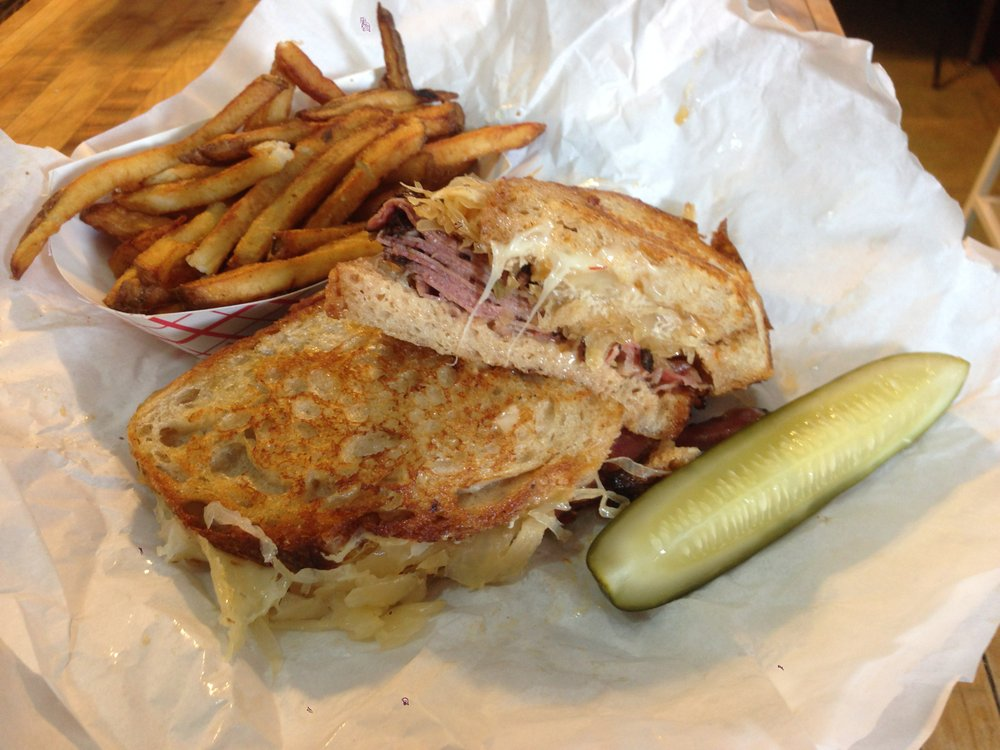 I'm pretty sure this sandwich is melting. Grilled Reuben. New York on Rye.