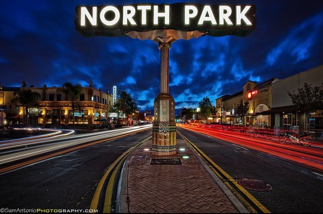 In 2012 Forbes Magazine named North Park one of America's Hippest Hipster Neighborhoods. © www.SamAntonio.com