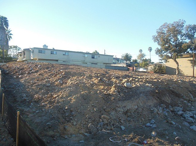 Vacant site of planned homes