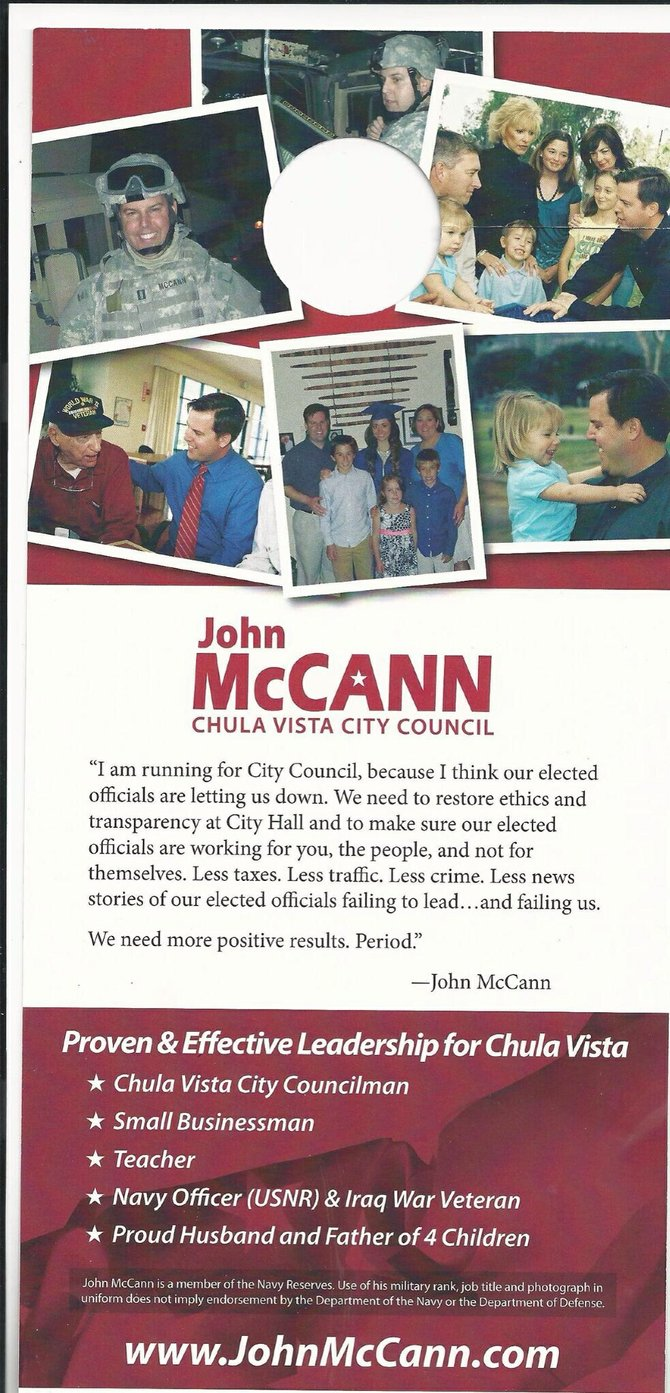 John McCann's ad for Chula Vista City Council
