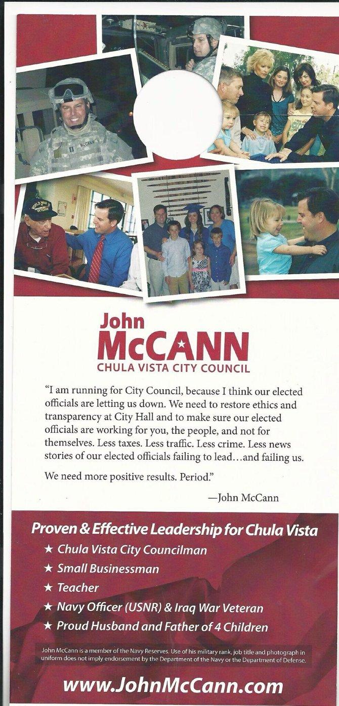 John McCann's ad for Chula Vista City Council