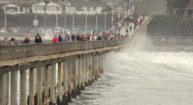 Built in 1966, the half-mile-long Ocean Beach Pier is the longest concrete pier on the West Coast.