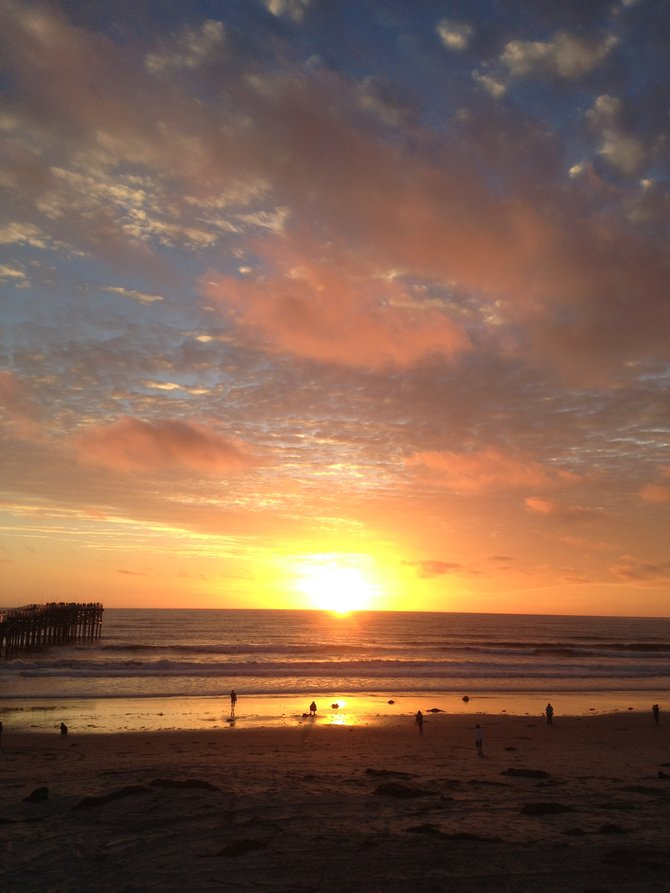 The End of Another Beautiful Day in Pacific Beach