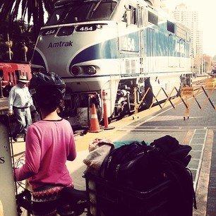 Ending our Amtrak journey.
