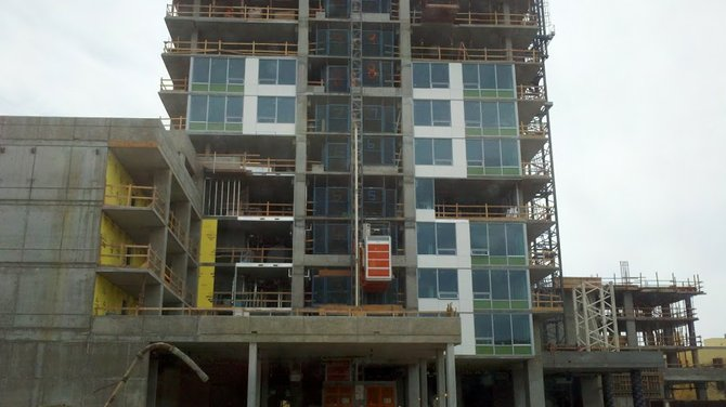 Construction at the Pinnacle site. Photo: Contractors State License Board