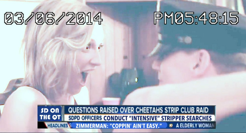 …and the club is considering selling the footage as a DVD titled simply, San Diego Sex Cops.