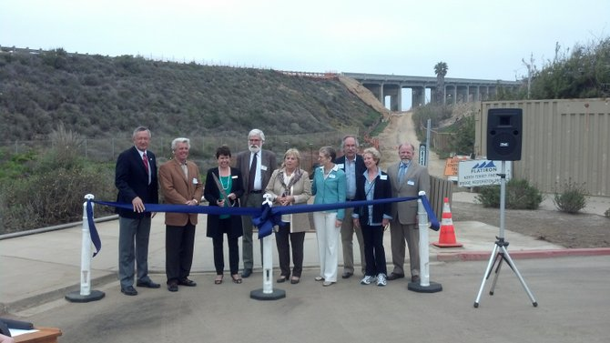 Local politicians past and present gather to celebrate Torrey Pines bridge retrofit completion