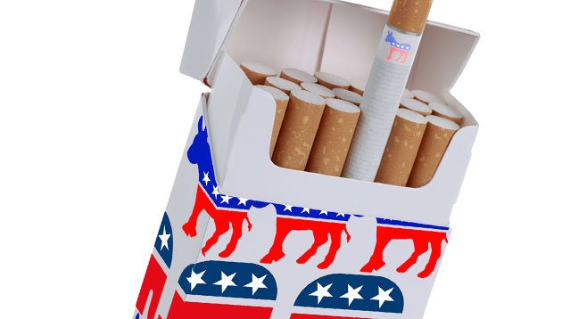 Once taboo, tobacco money now is accepted in large amounts by both parties.