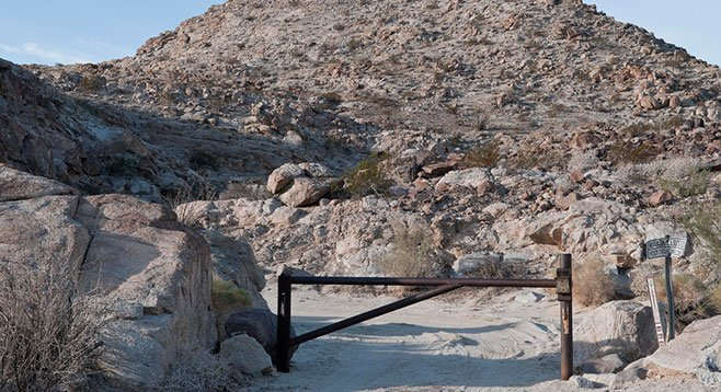 Federal officials installed this gate to stop smugglers from driving through Davies Valley.