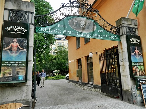 Entrance to Stockholm's Central Baths.