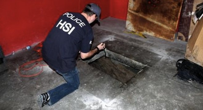 Homeland Security Investigations agent at site of early April tunnel discovery