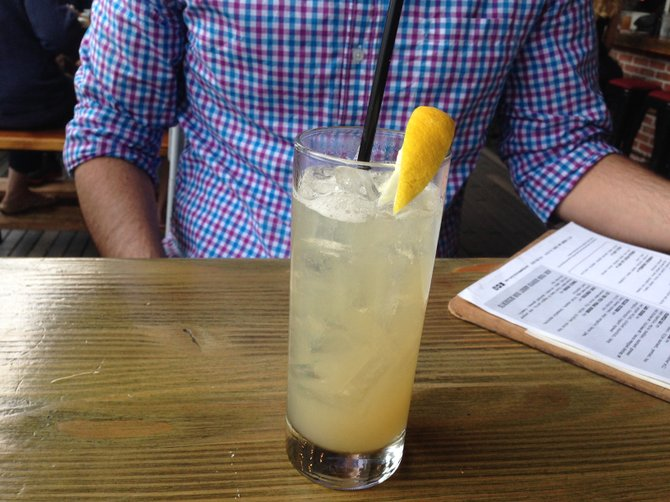 The Dickel Smash has George Dickel whisky, lemon juice, simple syrup and a splash of spirits
