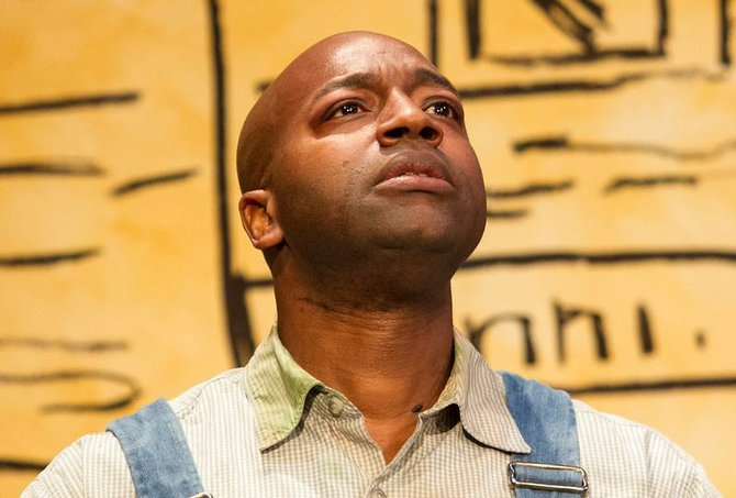 Durwood Murray as Tom Robinson in To Kill a Mockingbird at New Village Arts.