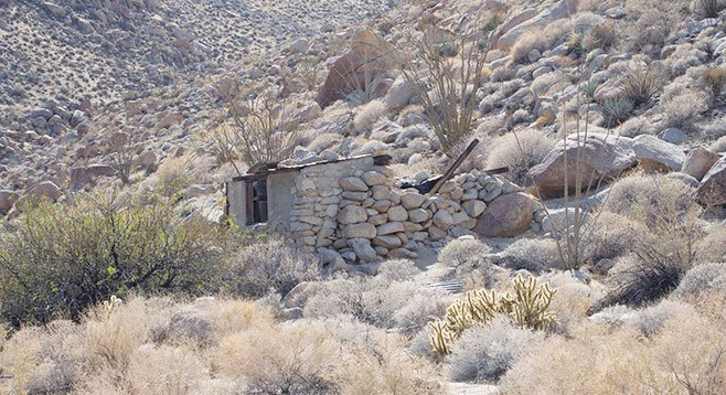 The rock house is a reminder of the lonely life of early-day cattlemen.