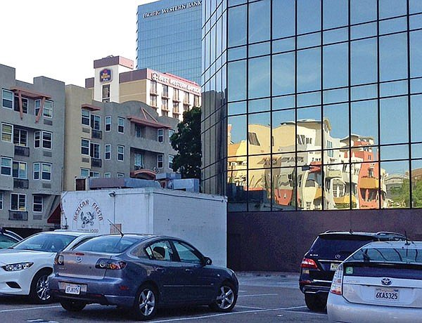 India Street's Mexican Fiesta sits among glass hi-rises and parking lots.