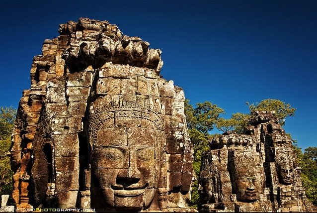 The Many Faces of Bayon Temple, Angkor Thom, Angkor Wat Temple Complex, Cambodia. ©Sam Antonio Photography