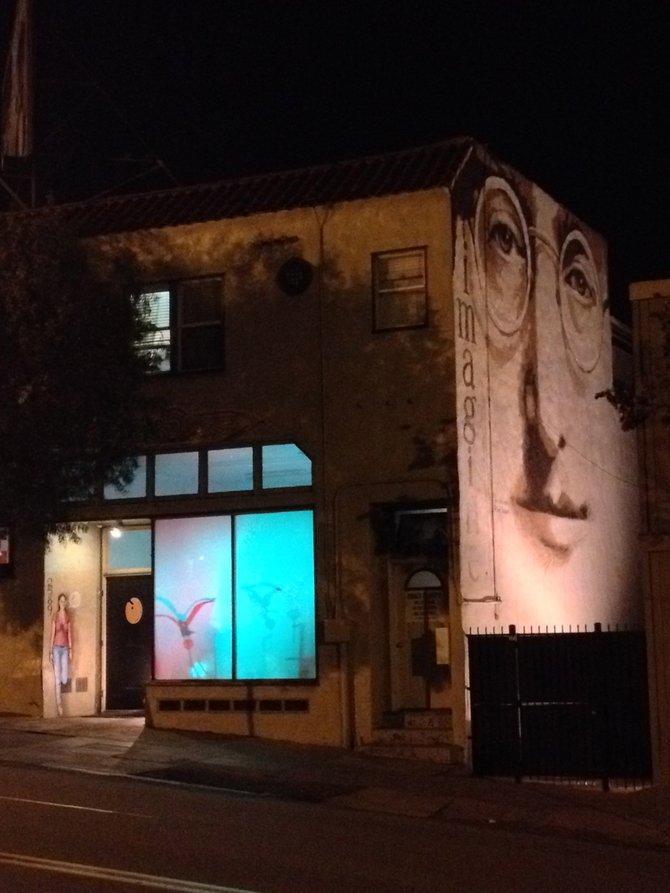 PleaseTouch Studio. John Lennon Mural by Rik Erickson and Sam Ballard