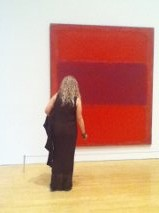 original painting called 'Red' by Rothko - on display at LA MOCA - coinciding with the play showing at the Taper - both shows were fabulous