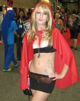 Jay&#39;s caption for the photo is &quot;Wanna catch a ride with Little Red from the Hood?&quot; It&#39;s the 4th photo in the gallery. The woman is Caucasian in the photo. This shows that Jay was doing unintential racism when he captioned the Red Riding Hood photo for Anime Conji. <a href=