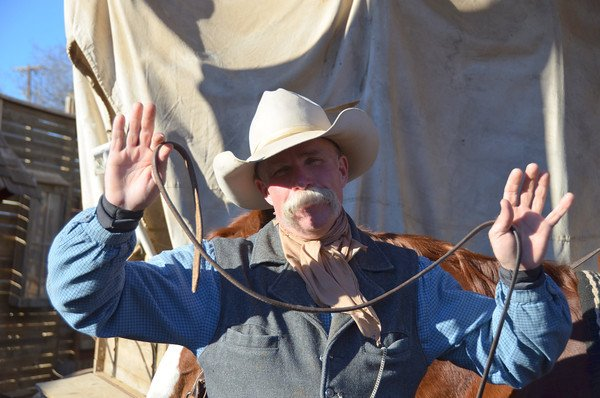 This Stockyards cowboy looks the part. (And like Sam Elliot in Big Lebowski, we might add.)