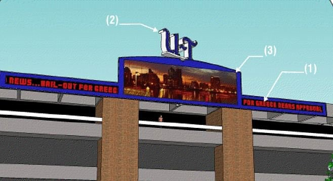 """News crawl and iconic LED video screen"" proposed for U-T HQ"