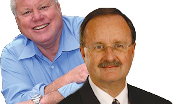 The big-money brawl between Bill Horn and Jim Wood for county supervisor has begun.