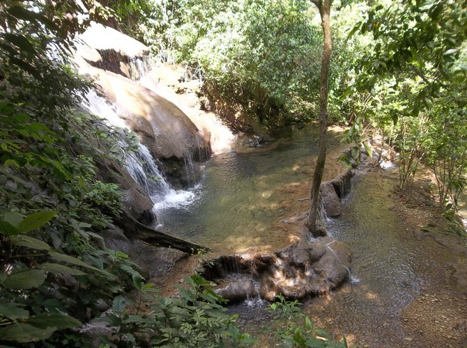Waterfall at Palenque