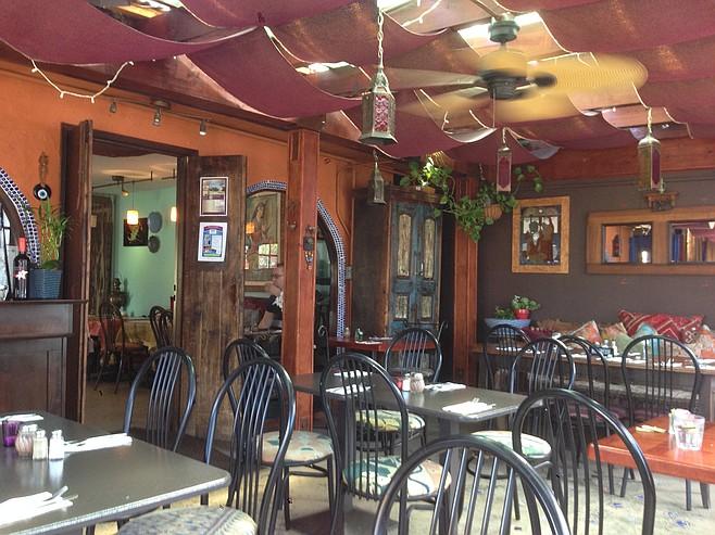 Opulent dining atmosphere, affordable meals.