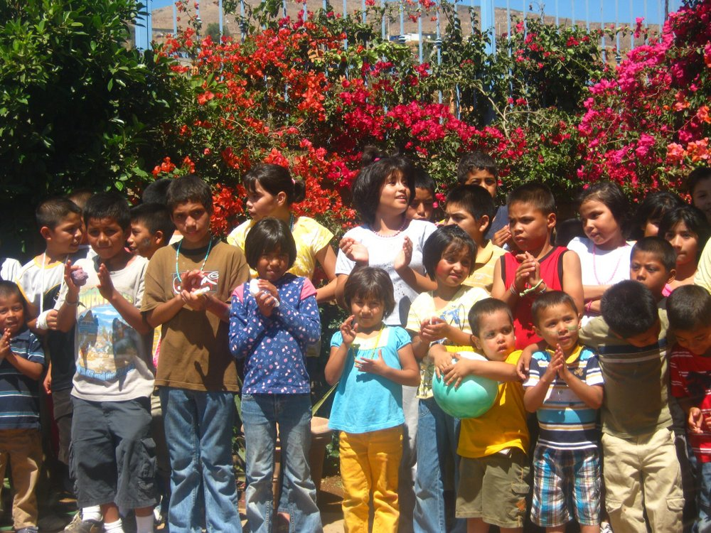 Kids at La Hacienda orphanage say goodbye.