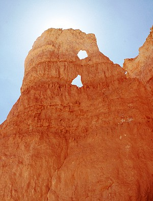 Hoodoos (pillars of rock left standing from the forces of erosion) served as outfit inspiration for Boland and Clark.