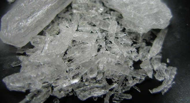 Crystal meth - Image by Wikipedia